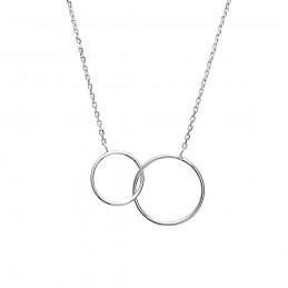 Collier argent deux anneaux