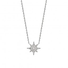 Collier argent étoile