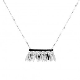 Collier pampilles argent