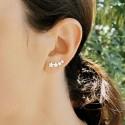 Boucles d'oreilles grimpantes argent étoiles