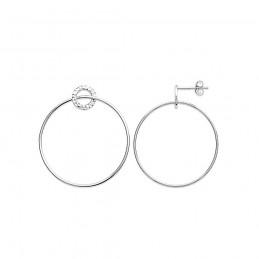 Boucles d'oreilles argent créoles anneaux