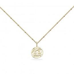 Collier signe astrologique Balance plaqué or
