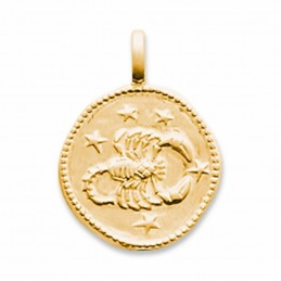 Médaille signe astrologique Scorpion plaqué or