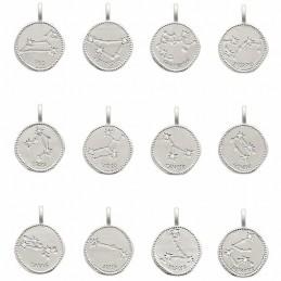 Pendentif argent médaille constellation