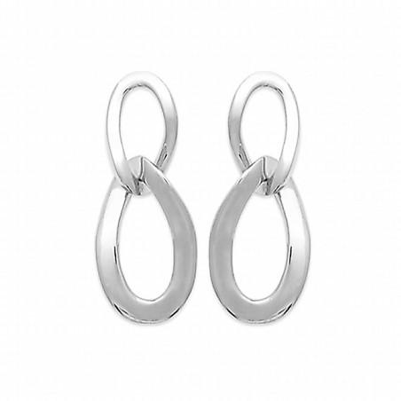 Boucles d'oreilles pendantes argent 925