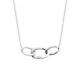 Collier argent 925 anneaux intercalés