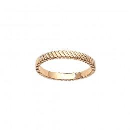 Bague plaqué or anneau ciselé à superposer