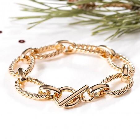 Bracelet plaqué or grosse maille