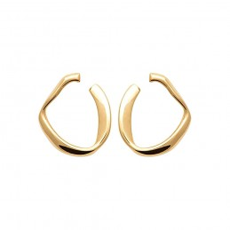 Boucles d'oreilles originales plaqué or