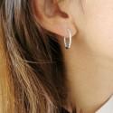 Boucles d'oreilles créoles argent zirconium
