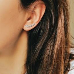 Boucles d'oreilles grimpantes argent zirconium