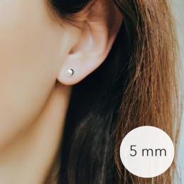 Boucles d'oreilles puces boules argent 5 mm