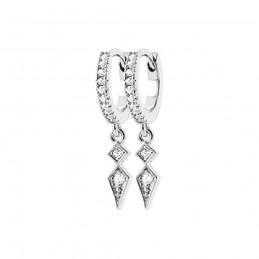 Boucles d'oreilles argent créoles avec pendentif