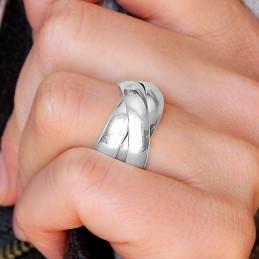 Bague argent 925 trois anneaux