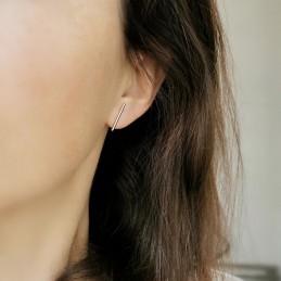 Boucles d'oreilles barre plaqué or