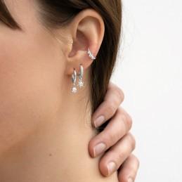 Boucles d'oreilles argent 925 bague d'oreille