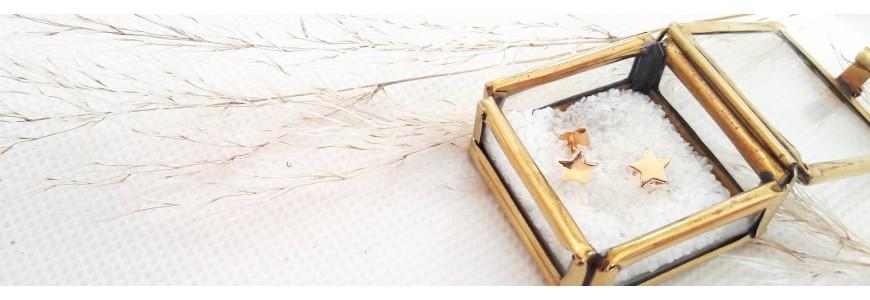 Boucles d'oreilles puces en argent et plaqué or
