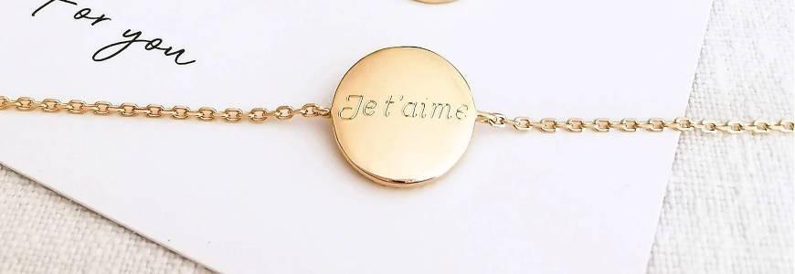 Bijoux Personnalisés à Graver - Collier ou bracelet prénom, médaille gravée