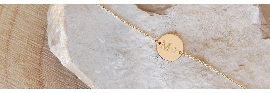 Bracelets personnalisés à graver - Bracelet prénom argent ou plaqué or