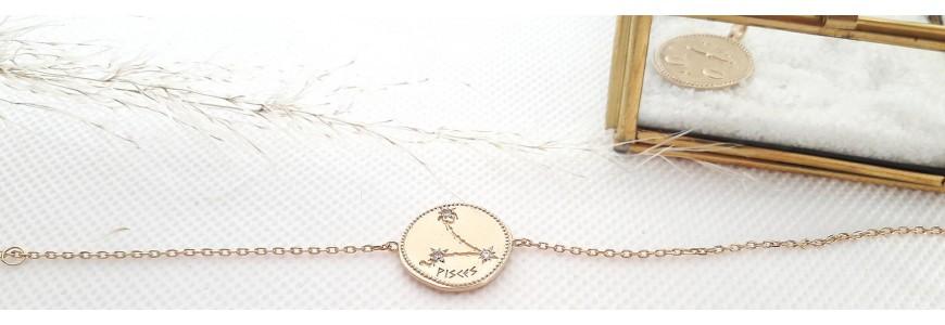 Bijoux astrologiques - colliers, pendentif, bracelets signes zodiaques et constellation